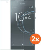 Azuri Tempered Glass Sony Xperia L1 Screenprotector Duo Pack