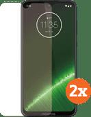 Azuri Tempered Glass Motorola G7 Plus Screenprotector Duo Pack