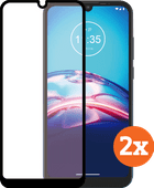 Azuri Tempered Glass Motorola Moto E6s Screenprotector Duo Pack