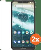Azuri Tempered Glass Motorola One Screenprotector Duo Pack