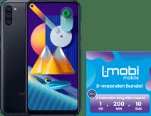Samsung Galaxy M11 32GB Zwart + L-mobi simkaart met 3 maanden 1GB, 200 minuten & 10 smsjes