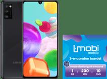 Samsung Galaxy A41 64GB Zwart + L-mobi simkaart met 3 maanden 1GB, 200 minuten & 10 smsjes