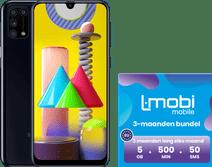 Samsung Galaxy M31 64GB Zwart + L-mobi simkaart met 3 maanden 5GB, 500 minuten & 50 smsjes