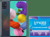 Samsung Galaxy A51 128GB Zwart + L-mobi simkaart met 3 maanden 5GB 500 minuten & 50 smsjes