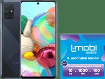 Samsung Galaxy A71 128GB Zwart + L-mobi simkaart 3 maanden 10GB, 1000 minuten & 100 smsjes