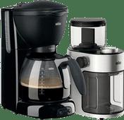 Braun PurAroma Plus KF560/1 Black + Braun KG 7070 Coffee Grinder