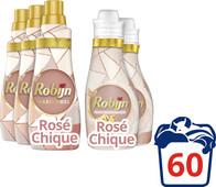Robijn Klein & Krachtig Color Rosé Chique Pack - 3x Detergent and 2x Fabric Softener