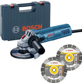 Bosch Professional GWS 880 + 2x diamantschijf