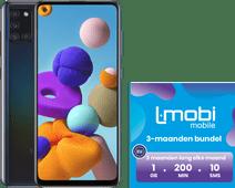 Samsung Galaxy A21s 64GB Zwart + L-mobi Simkaart met 1 GB Databundel