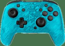 PDP Faceoff Draadloze Nintendo Switch Deluxe Controller Neon Blauw Camo