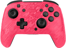 PDP Faceoff Wireless Nintendo Switch Deluxe Controller Neon Pink Camo
