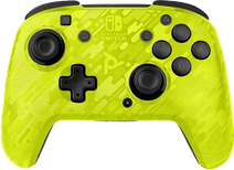 PDP Faceoff Draadloze Nintendo Switch Deluxe Controller Neon Geel Camo