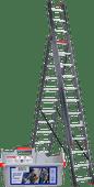 Altrex All Round 3x12 Reform Ladder Coated + Altrex Ladder Caddy