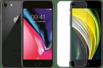Refurbished iPhone 8 64GB Space Gray + Azuri Rinox Case Friendly Screenprotector