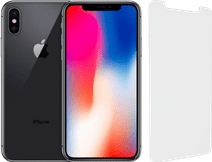 Refurbished iPhone X 64GB Space Gray + InvisibleShield Glass Elite Screenprotector