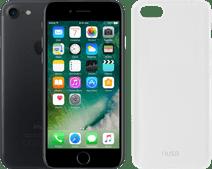 Refurbished iPhone 7 32GB Zwart + Azuri TPU Back Cover Transparant