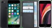 Refurbished iPhone 7 32GB Zwart + Azuri Wallet Book Case Zwart