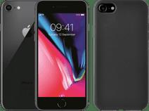 Refurbished iPhone 8 64GB Space Gray + Azuri Back Cover Siliconen Zwart