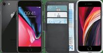 Refurbished iPhone 8 64GB Space Gray + Azuri Wallet Book Case Zwart