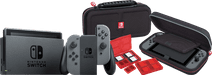 Nintendo Switch (2019 Upgrade) Grijs + Bigben Nintendo Switch Travel Case Zwart