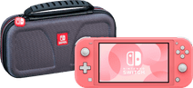 Nintendo Switch Lite Coral + Bigben Official Nintendo Switch Lite Travel Case