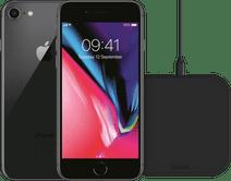 Refurbished iPhone 8 64GB Space Gray + ZENS Draadloze Oplader 10W Zwart Refurbished iPhone 8