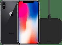 Refurbished iPhone X 64GB Space Gray + ZENS Draadloze Oplader 10W Zwart