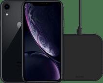 Refurbished iPhone Xr 64GB Zwart + ZENS Draadloze Oplader 10W Zwart