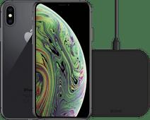 Refurbished iPhone Xs 64GB Space Gray + ZENS Draadloze Oplader 10W Zwart