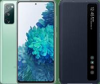 Samsung Galaxy S20 FE 128GB Groen 4G + Clear View Book Case Blauw