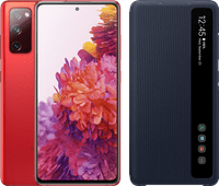 Samsung Galaxy S20 FE 128GB Rood 4G + Clear View Book Case Blauw