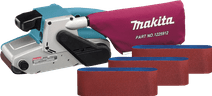 Makita 9404 Bandschuurmachine +  schuurbanden (3x)