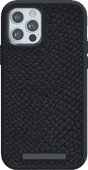 Nordic Elements Njord Apple iPhone 12 / 12 Pro Back Cover Leather Gray