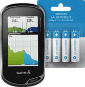 Garmin Oregon 700 + Veripart Oplaadbare NiMH AA-batterijen 4 stuks