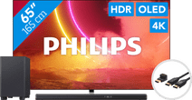 Philips 65OLED855 - Ambilight (2020) + Soundbar + HDMI kabel