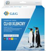 G&G CLI-551XL Cartridges Combo Pack