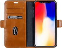 DBramante1928 Copenhagen Slim Apple iPhone Xs Max Book Case Leer Bruin