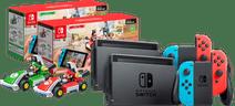 Mario Kart Live pack - 2x Nintendo Switch (2019 Upgrade) Red/Blue + Mario and Luigi Set