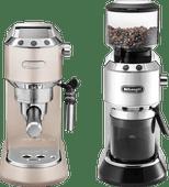 De'Longhi Dedica Metallics EC 785 Crème + Koffiemolen