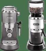 De'Longhi Dedica Metallics EC 785 Grijs + Koffiemolen