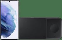 Samsung Galaxy S21 128GB White 5G + Samsung Trio Wireless Charger 9W Black