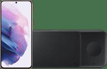 Samsung Galaxy S21 128GB Purple 5G + Samsung Trio Wireless Charger 9W Black