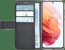 Azuri Wallet Samsung Galaxy S21 Book Case Zwart Samsung Galaxy S21 hoesjes