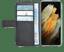 Azuri Wallet Samsung Galaxy S21 Ultra Book Case Zwart Azuri hoesjes