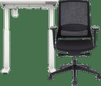 Worktrainer StudyDesk Sit-Stand Desk 80 x 80 + Interstuhl Desk Chair