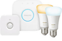 Philips Hue White Ambiance E27 Duopack Bluetooth + Philips Hue Bewegingssensor + Bridge