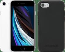 Coolblue-Apple iPhone SE 64GB Wit + Otterbox Symmetry Back Cover Zwart-aanbieding