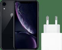 Apple iPhone Xr 128 GB Zwart + Apple Usb C Oplader 18W