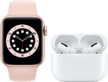 Apple Watch Series 6 40mm Rose Gold Pink Sand Strap + AirPods Pro with Wireless Charging C