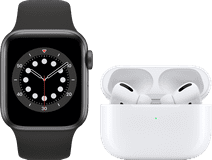 Apple Watch Series 6 40mm Space Gray Black Strap + AirPods Pro with Wireless Charging Case